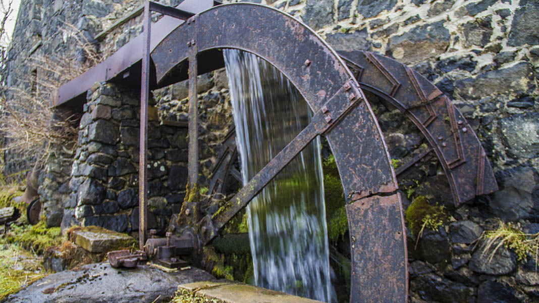 waternish farm water wheel